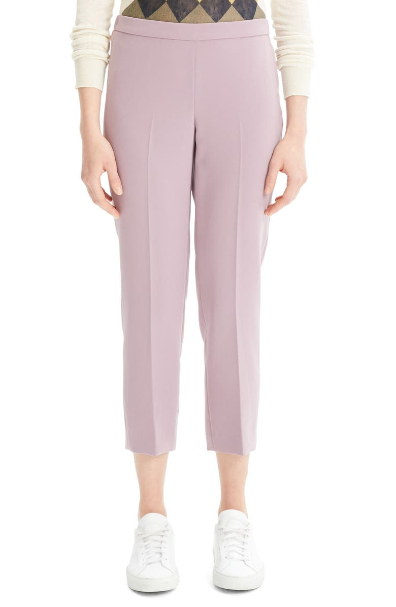 THEORY Crop Pants, Main, color, LILAC