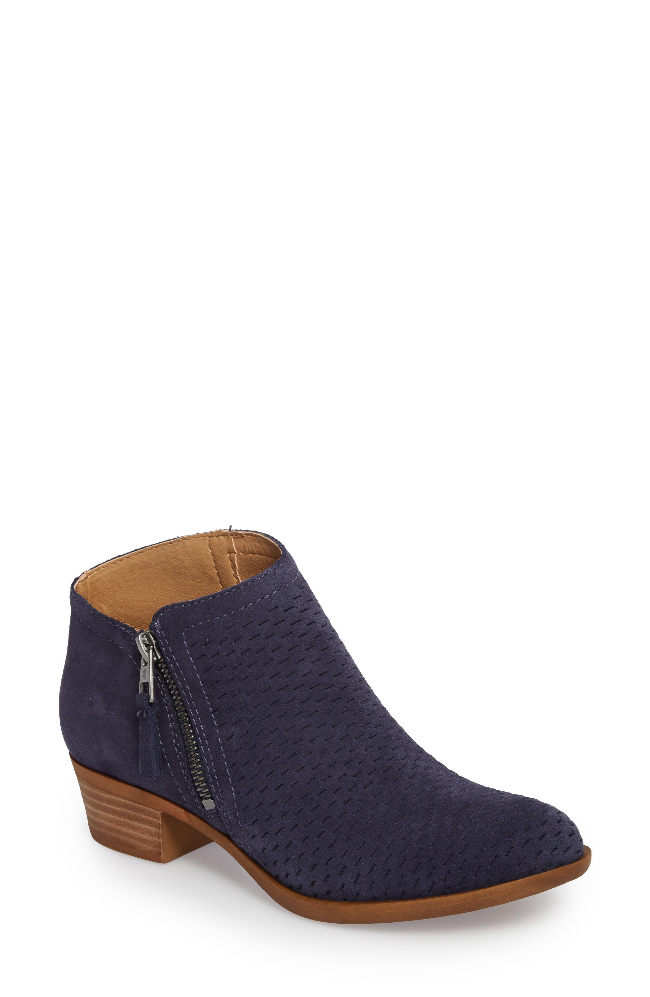 Lucky Brand Brielley Perforated Bootie, Blue