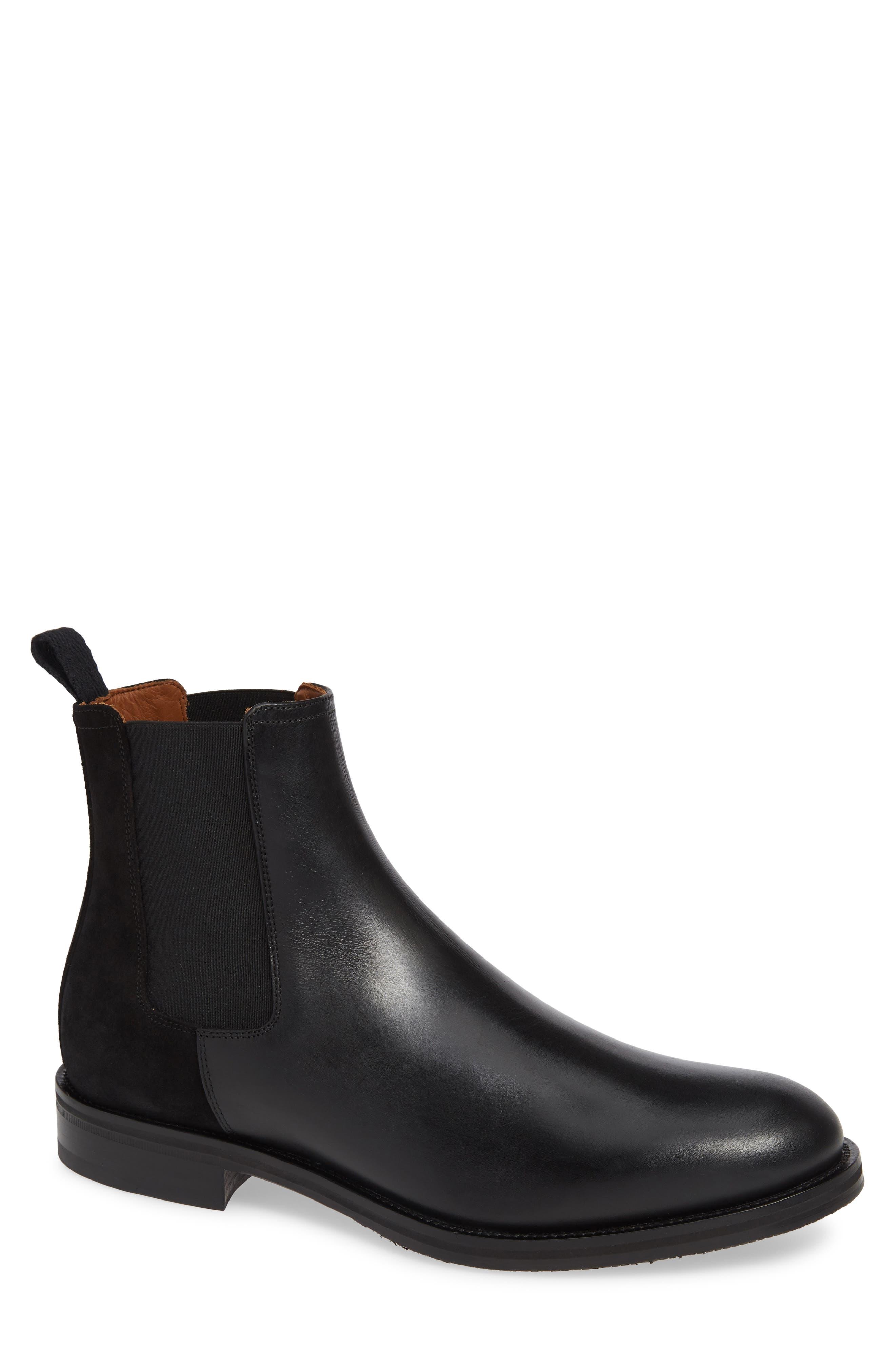 Giancarlo Weatherproof Chelsea Boot, Main, color, BLACK