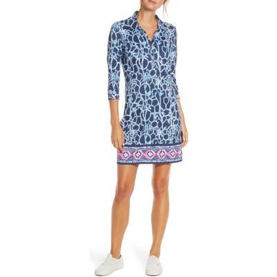 Lilly Pulitzer Ansley Upf 50+ Polo Dress, Blue