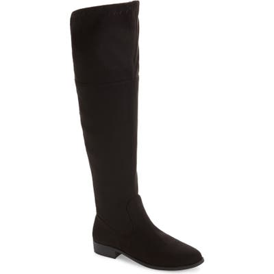 Bc Footwear Height Vegan Over The Knee Boot, Black