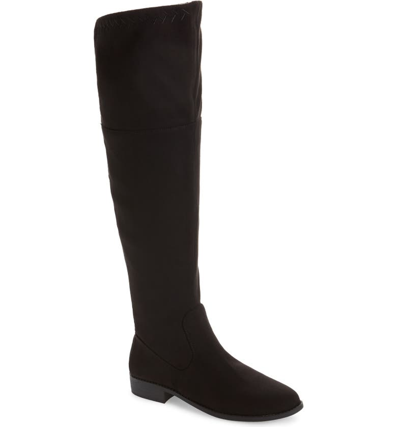 BC FOOTWEAR Height Vegan Over the Knee Boot, Main, color, BLACK FABRIC