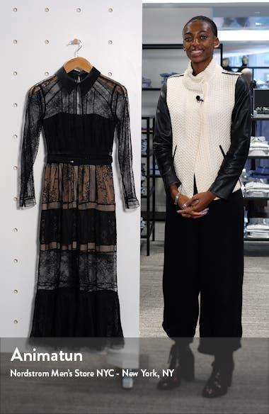 Long Sleeve Lace Midi Dress, sales video thumbnail