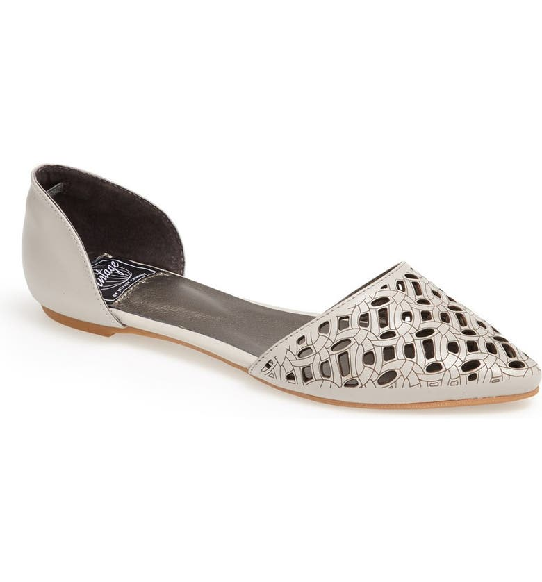 JEFFREY CAMPBELL 'In Love' Laser Cut d'Orsay Flat, Main, color, 034
