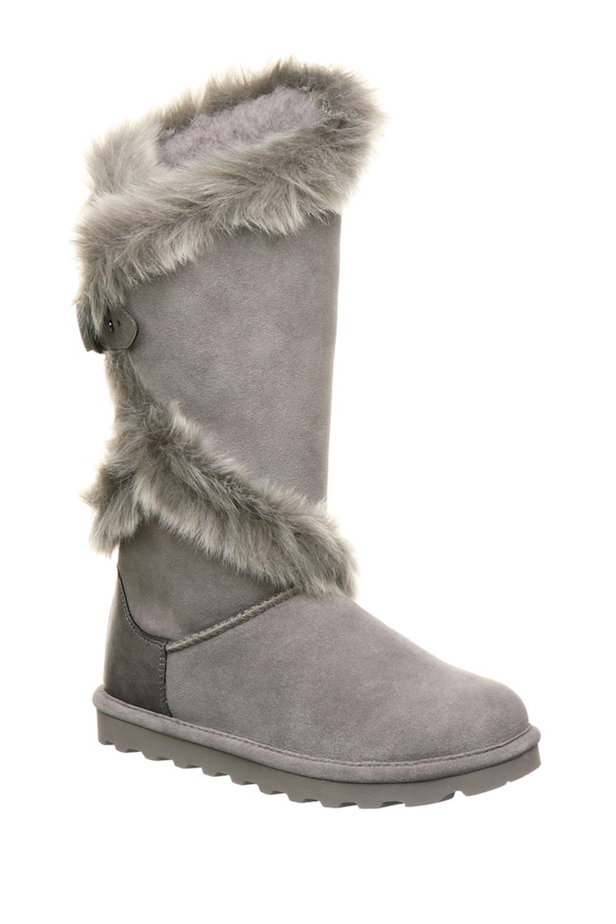 Image of BEARPAW Sheilah Suede Tall Faux Fur Boot
