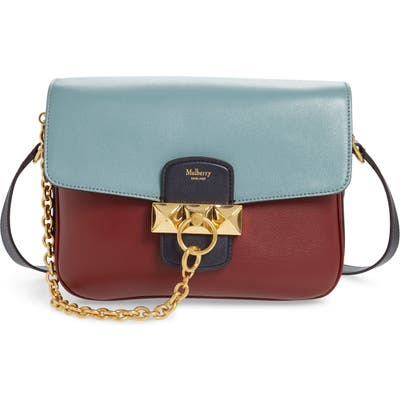Mulberry Keeley Colorblock Leather Shoulder Bag - Burgundy