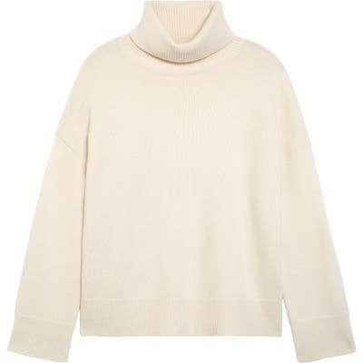 Co Bell Sleeve Wool & Cashmere Sweater, Ivory