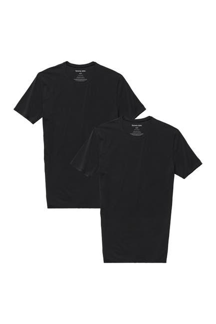 Image of Tommy John Basics Stay-Tucked Crew Neck Undershirt - Pack of 2