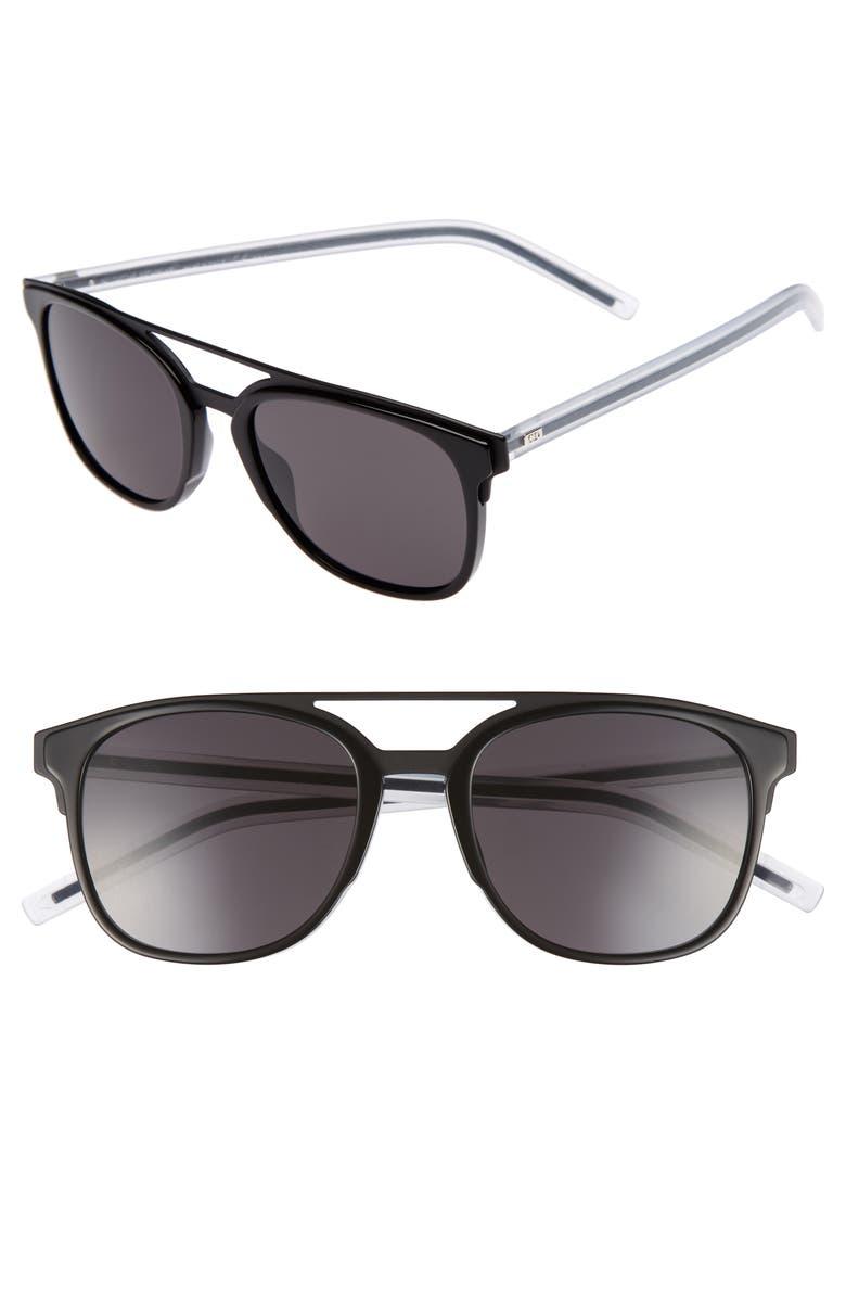 DIOR 'Black Tie' 53mm Sunglasses, Main, color, 001