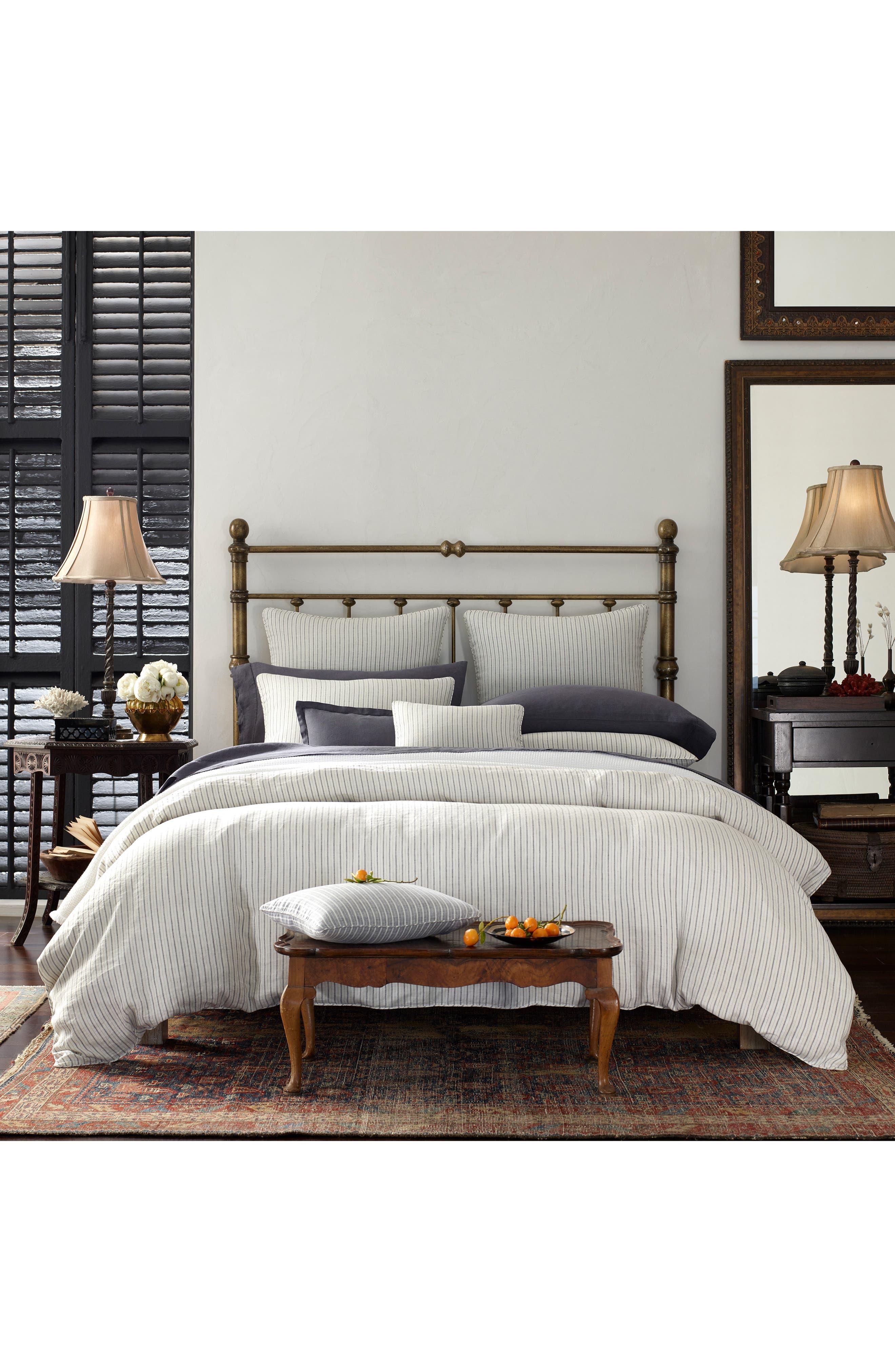 ,                             Tristen Set of 2 Linen Pillowcases,                             Alternate thumbnail 2, color,                             WHITE/ ANTHRACITE