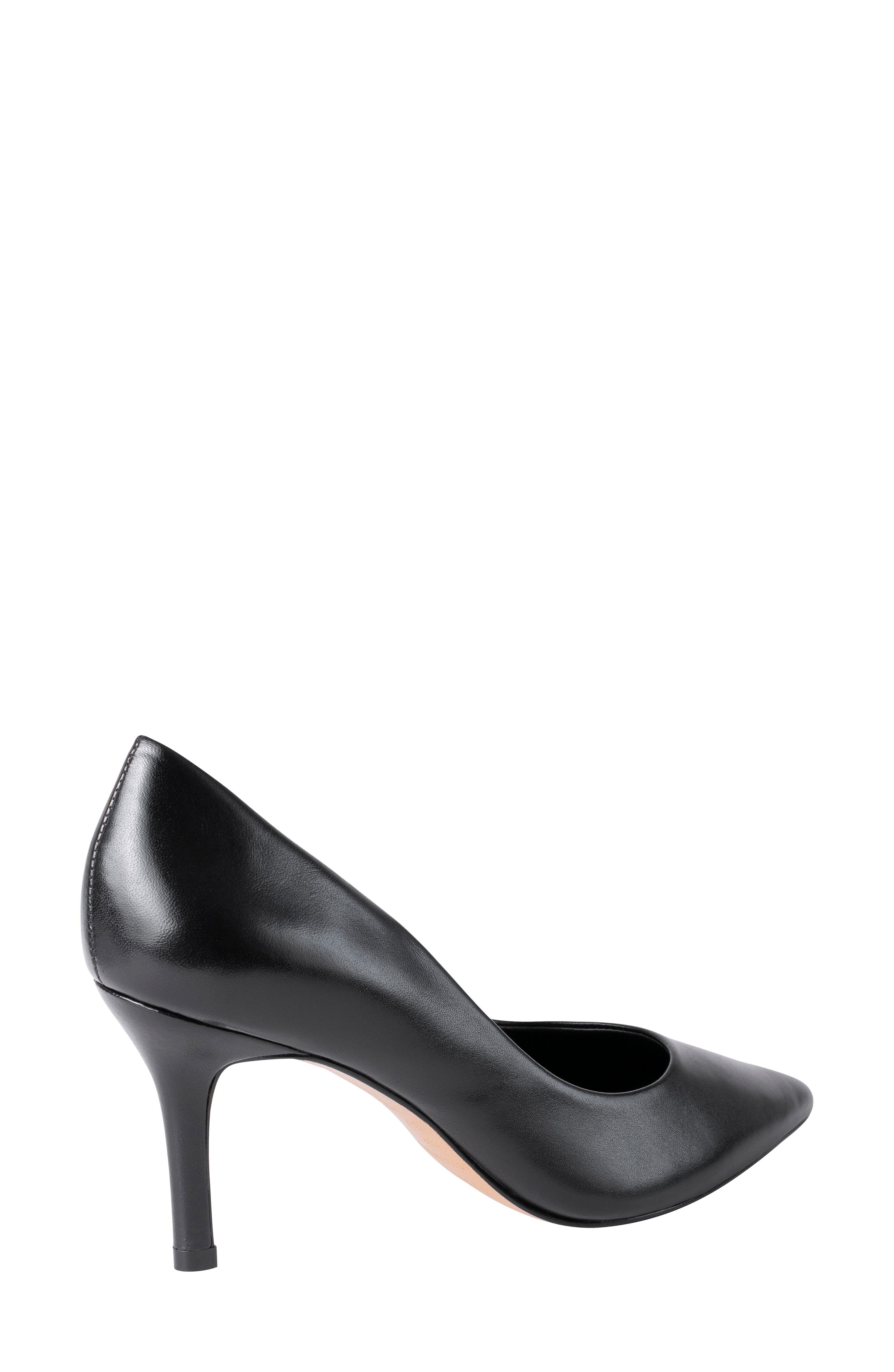 ,                             Anya Pointy Toe Pump,                             Alternate thumbnail 2, color,                             BLACK LEATHER