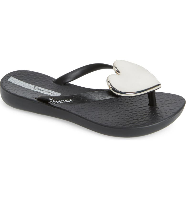 IPANEMA Wave Heart Flip Flop, Main, color, 001