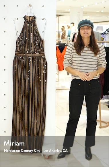 Sequin Stripe Sleeveless Jumpsuit, sales video thumbnail