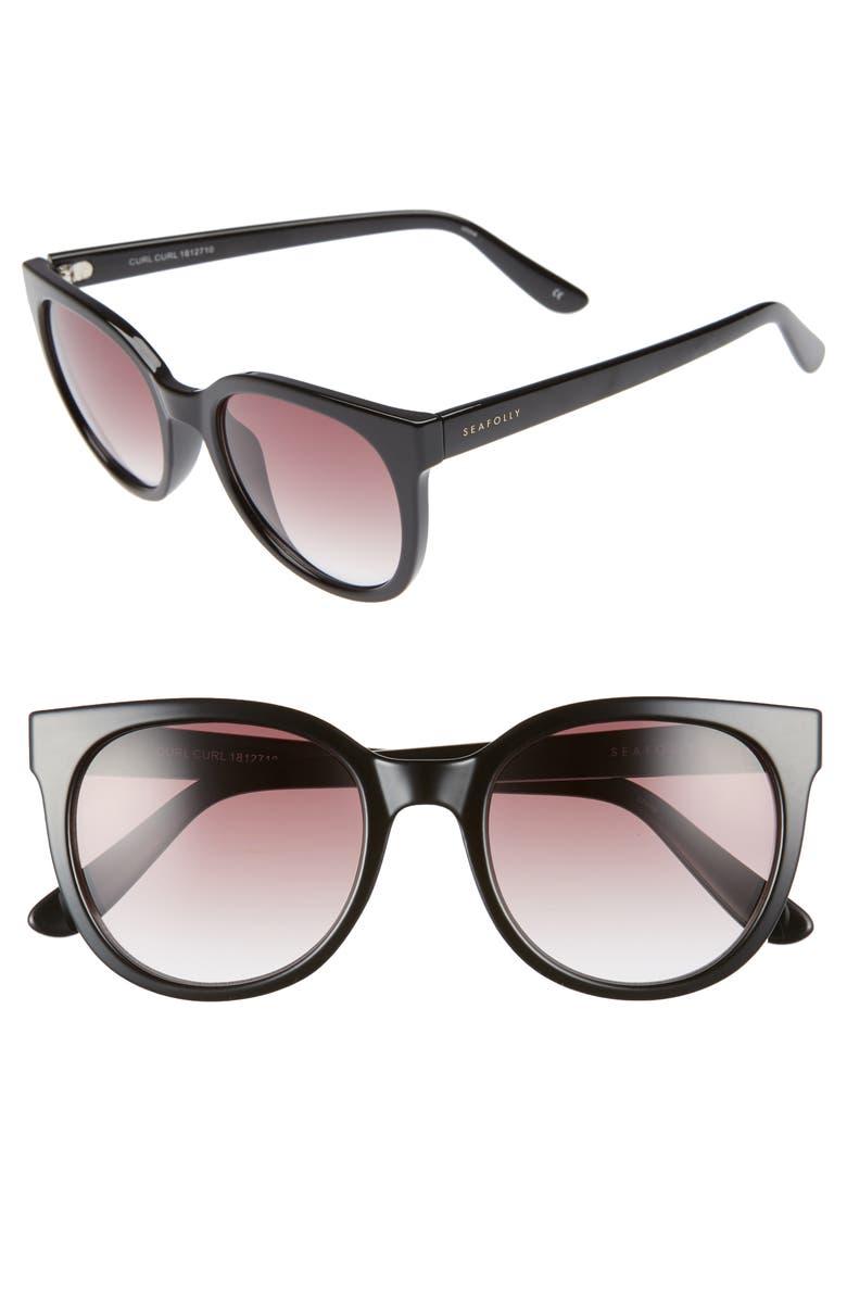 SEAFOLLY Curl Curl 53mm Sunglasses, Main, color, 001
