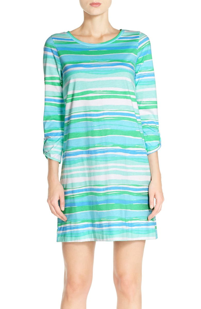 7dc8535aed6f27 Lilly Pulitzer® 'Linden' Stripe Pima Cotton Shift Dress | Nordstrom