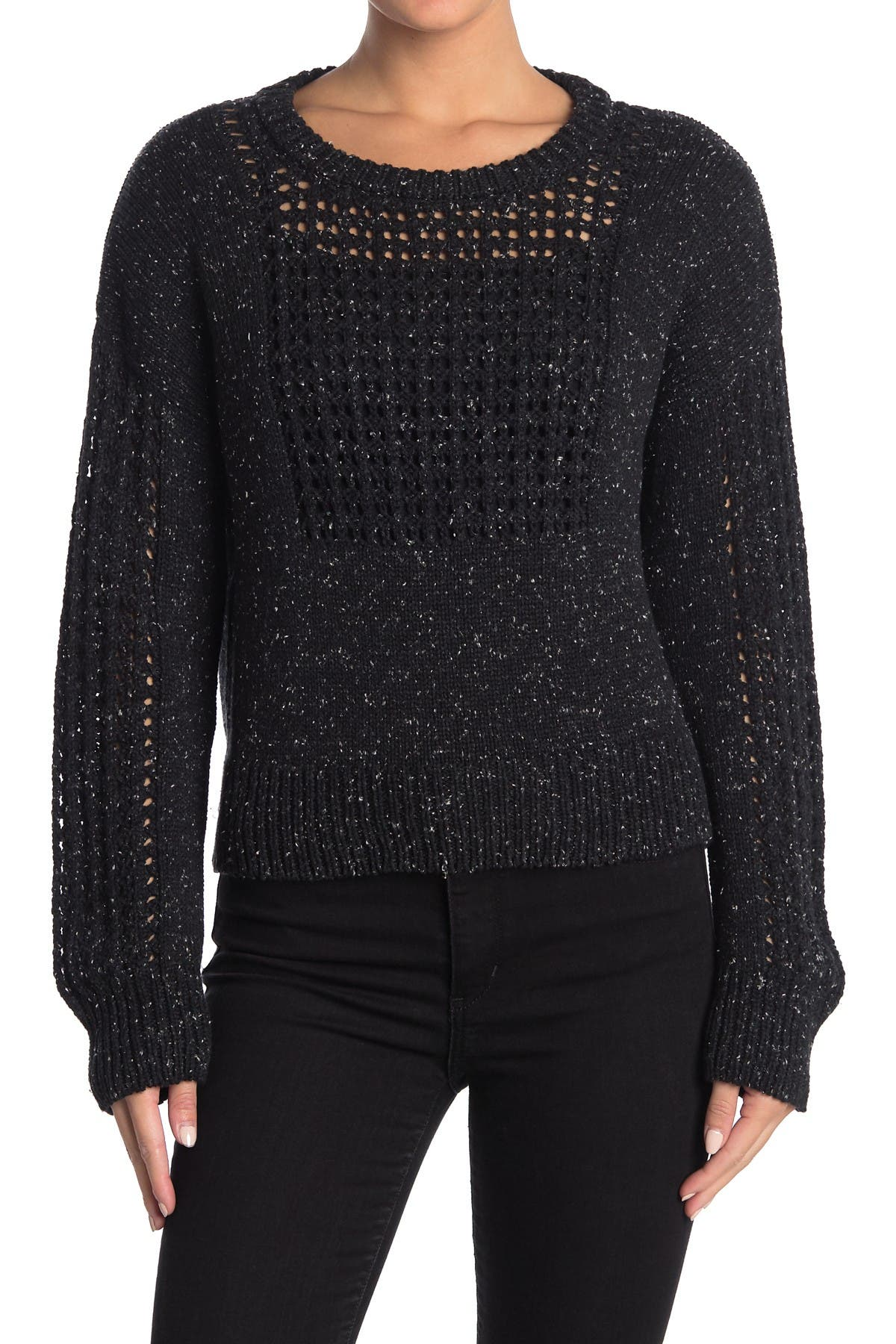 Image of Billy Reid Boxy Net Sweater