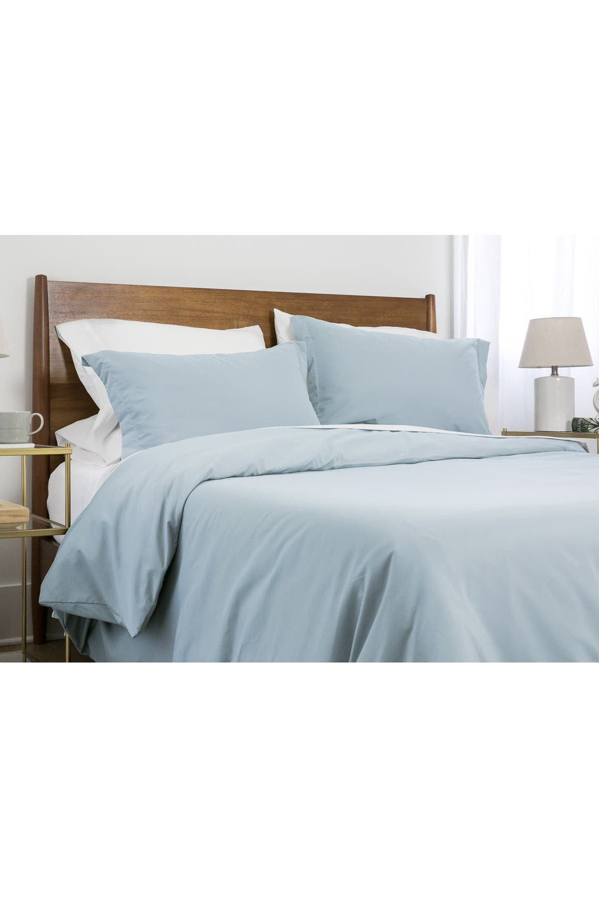 Image of SOUTHSHORE FINE LINENS Queen Classic Duvet Cover Set with Pre-Washed Fabric - Light Blue