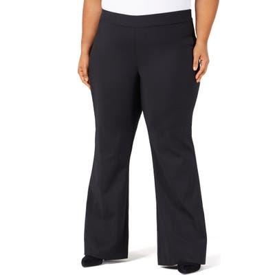 Plus Size Pari Passu Sateen Flare Pants, (fits like 20 US) Shape B (Curvy) - Black