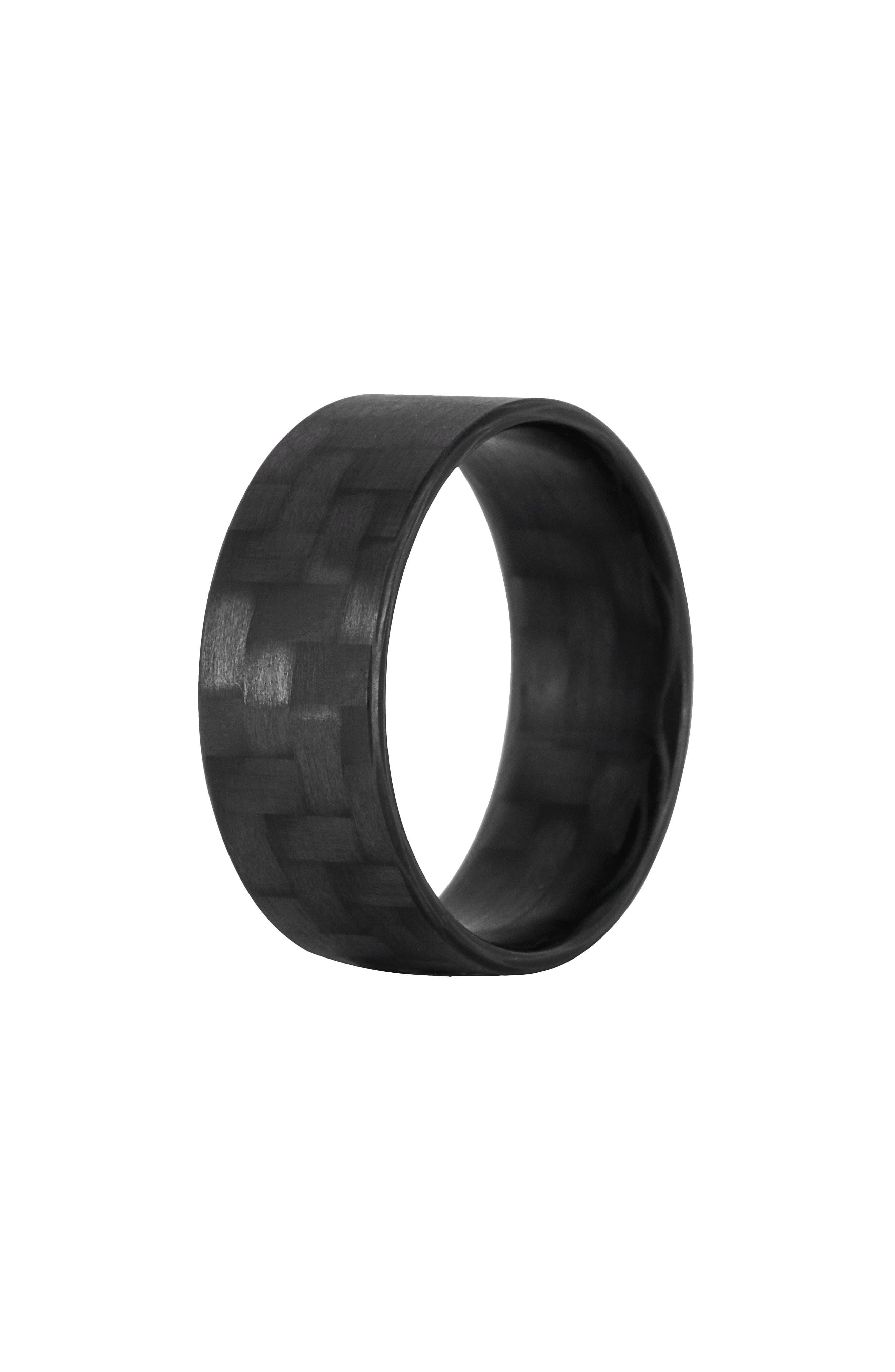 Women's Element Rings Co. Racer Ultralight Carbon Fiber Band Ring