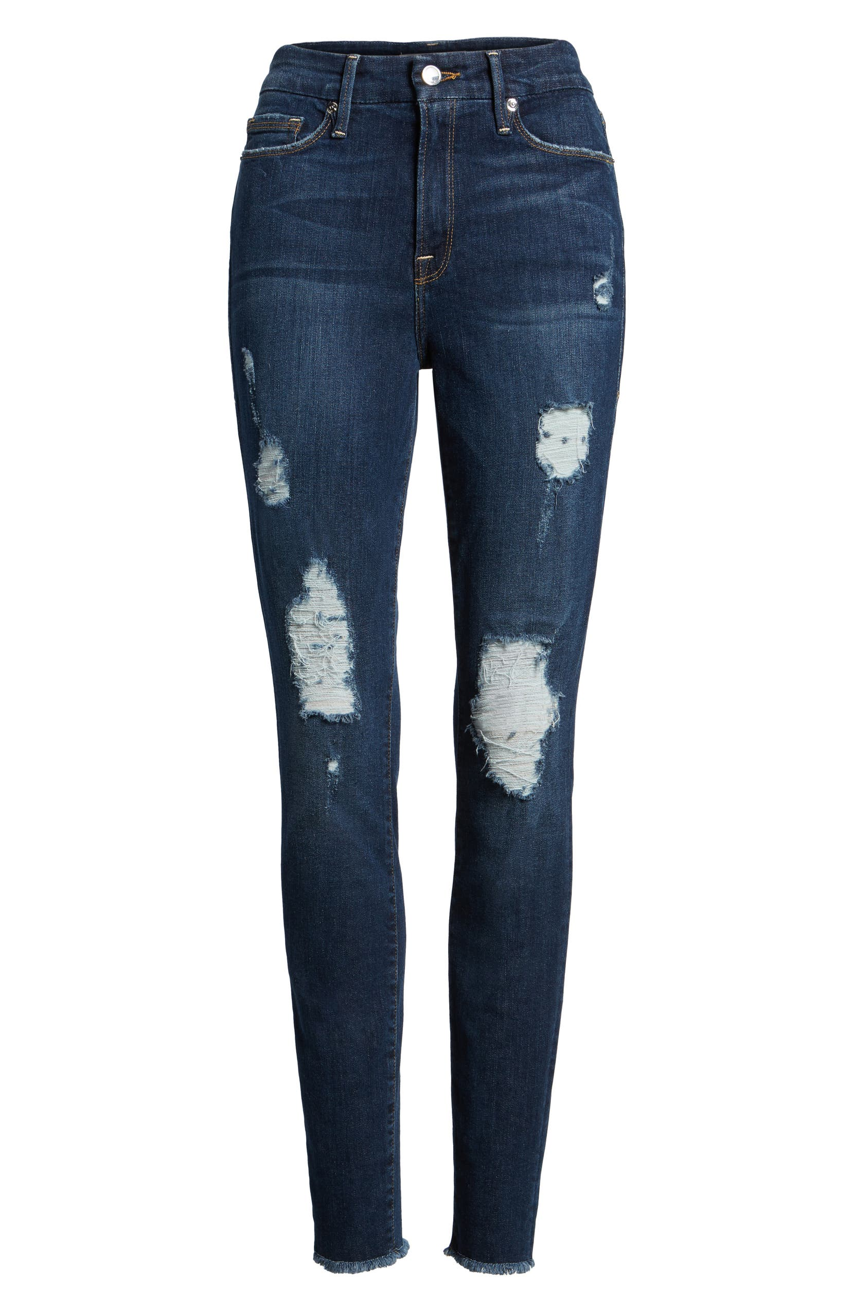 128518777a2 Good American Good Legs High Rise Ripped Skinny Jeans (Blue 003) (Regular &  Plus Size) | Nordstrom