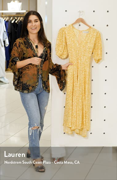 Delia Python Print Midi Dress, sales video thumbnail