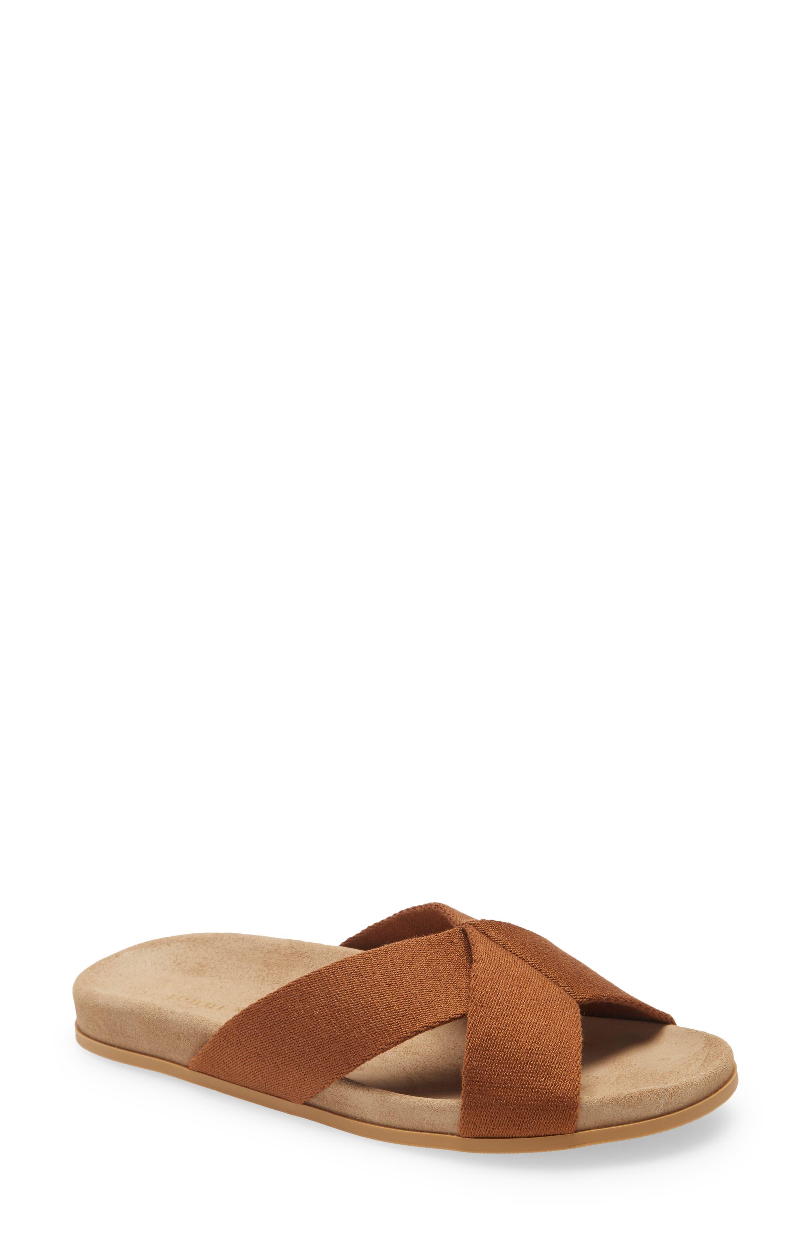 Cross Strap Slide Sandal