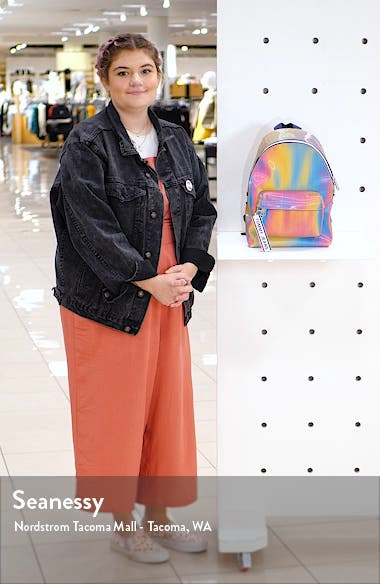 Logo Tape Holographic Backpack, sales video thumbnail