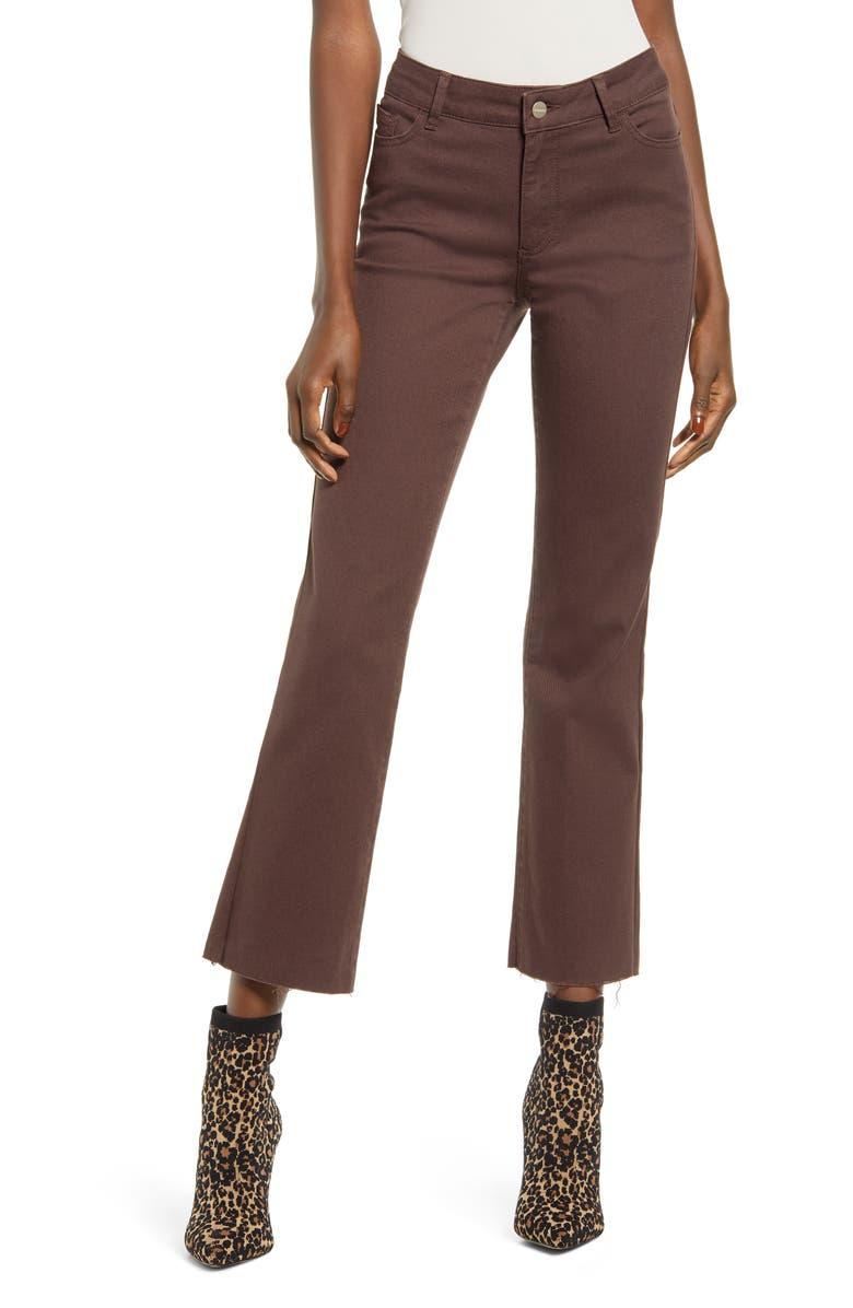 VERO MODA Sheila High Waist Crop Kick Flare Jeans, Main, color, COFFEE BEAN