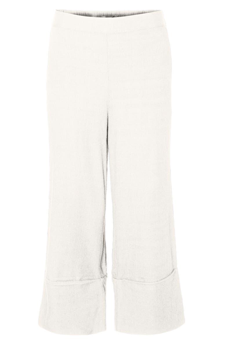 VERO MODA Helen Milo Culotte Pants, Main, color, SNOW WHITE
