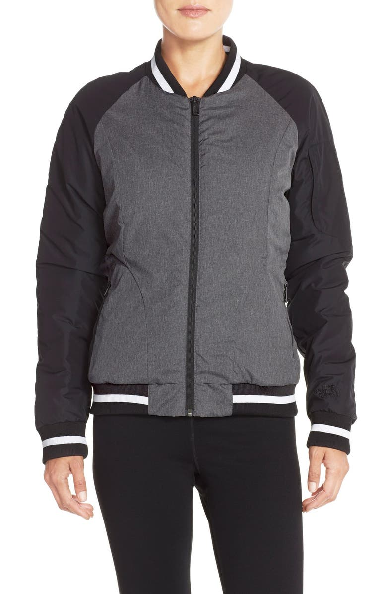 THE NORTH FACE 'Rydell' Water Resistant Heatseeker<sup>™</sup> Insulated Bomber Jacket, Main, color, 001