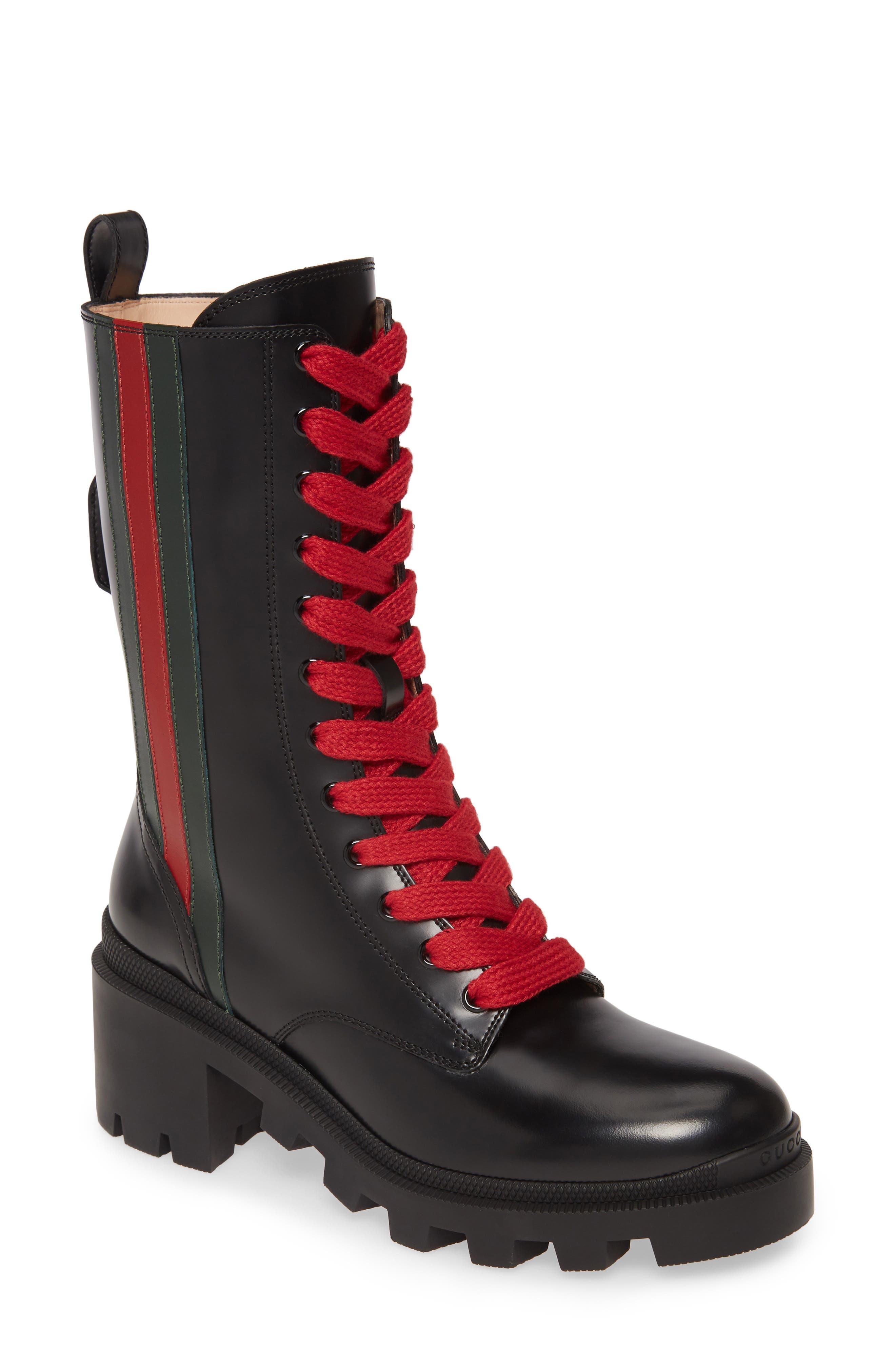 Gucci Trip Combat Boot (Women) | Nordstrom