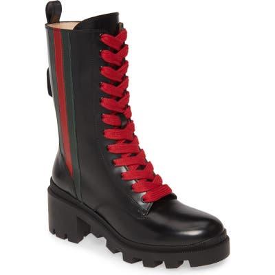 Gucci Trip Combat Boot - Black