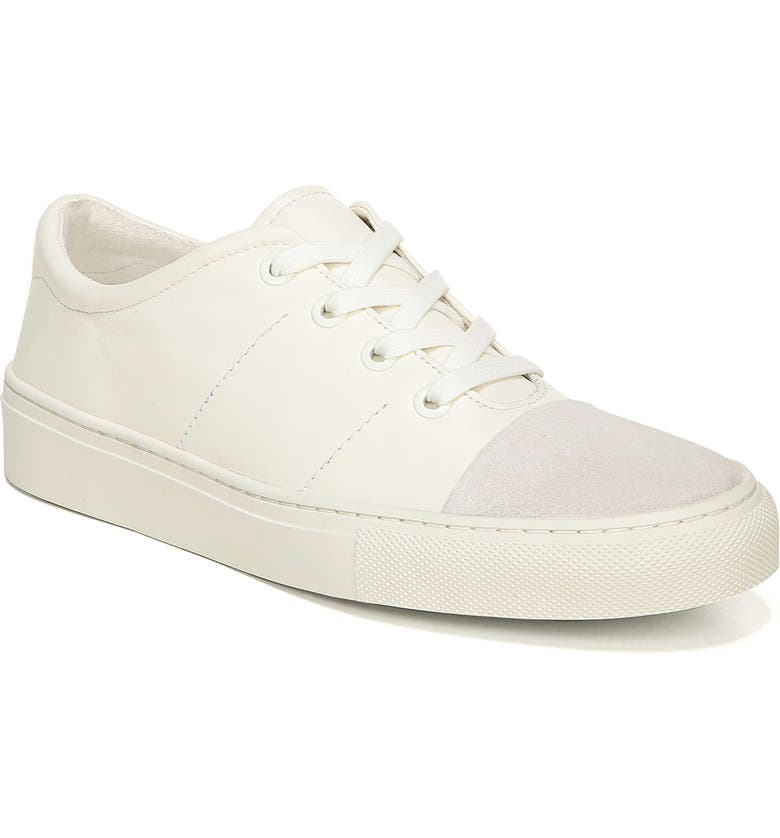 VIA SPIGA Sybil Cap Toe Low Top Sneaker, Main, color, MILK LEATHER