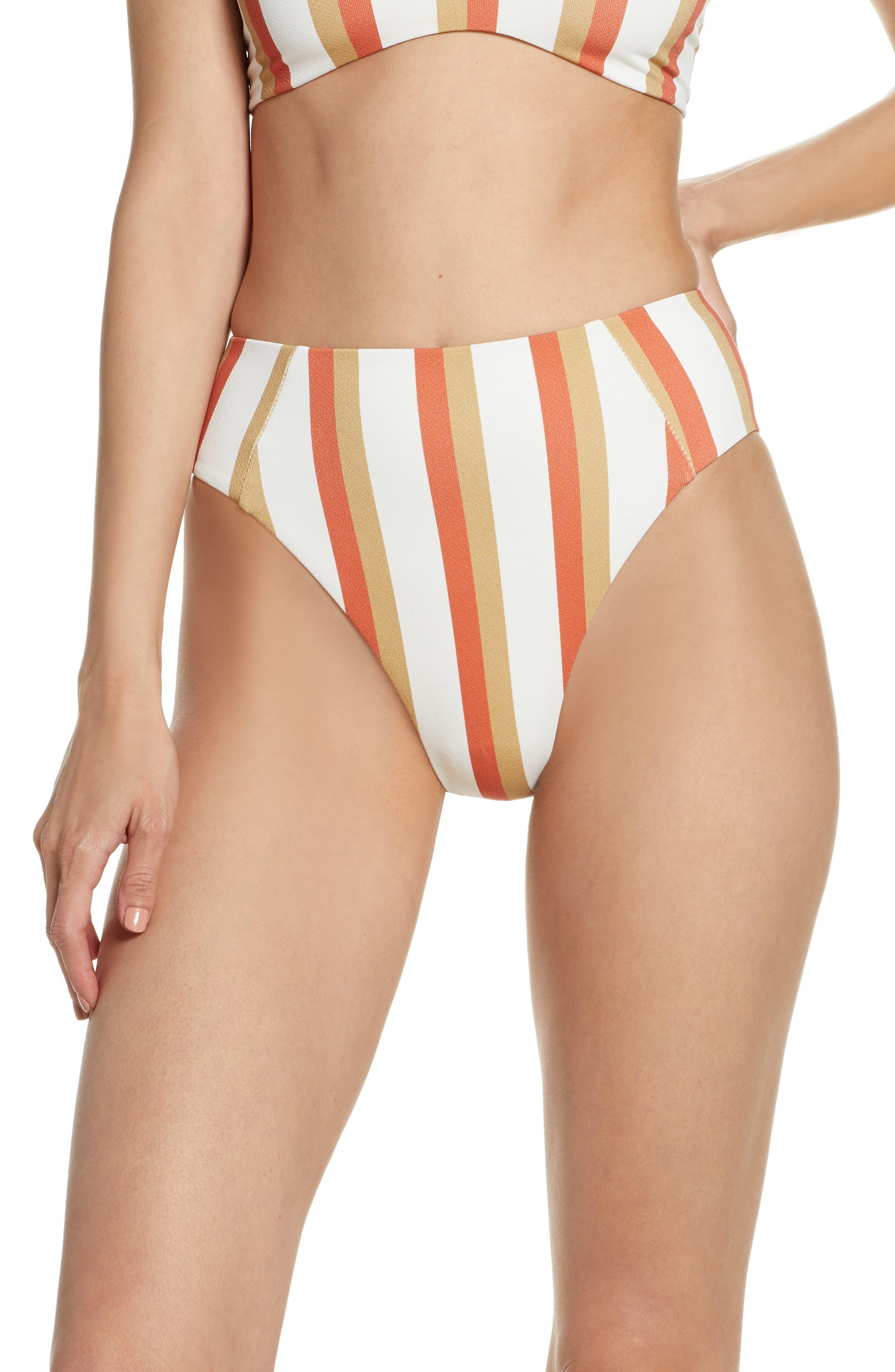Boys + Arrows Stanlee High Waist Bikini Bottoms, Orange