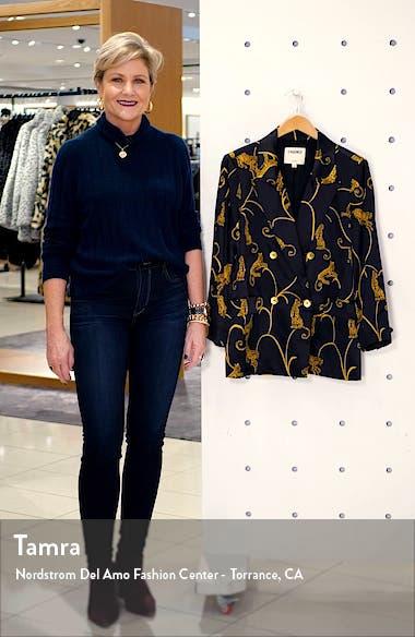 Taryn Leopard Print Silk Blazer, sales video thumbnail