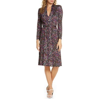 French Connection Frances Meadow Jersey Long Sleeve Dress, Purple