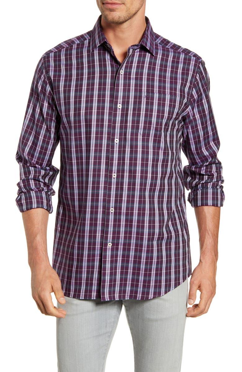 SOUTHERN TIDE Tailshift Regular Fit Plaid Button-Up Shirt, Main, color, 568
