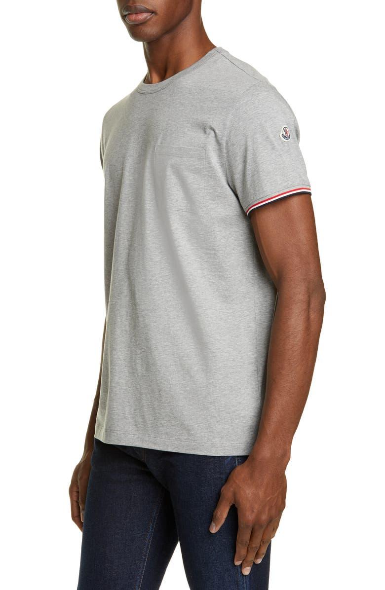 MONCLER Crewneck T-Shirt, Main, color, GREY
