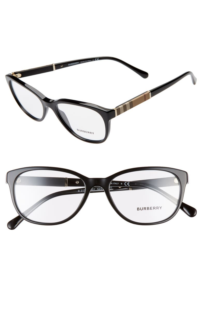BURBERRY 52mm Optical Glasses, Main, color, 001