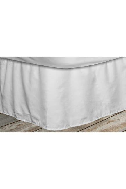 Image of Duck River Textile Queen Frita Elastic Fastner Pleated Bedskirt - White