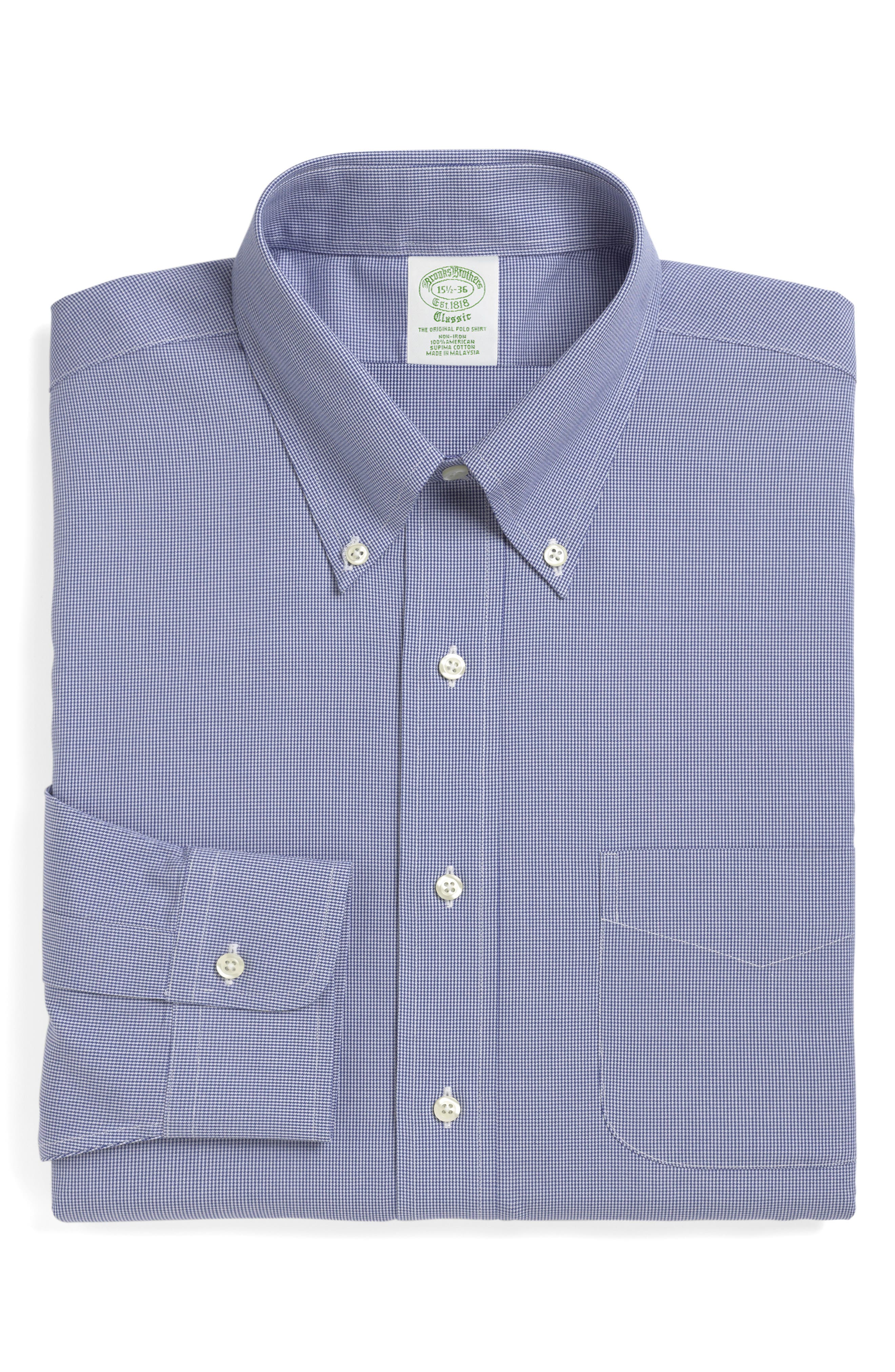 Brooks Brothers Milano Slim Fit Houndstooth Dress Shirt (3 For $207)