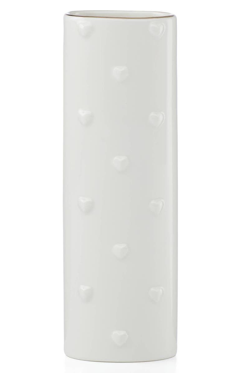 KATE SPADE NEW YORK oval porcelain bud vase, Main, color, 100