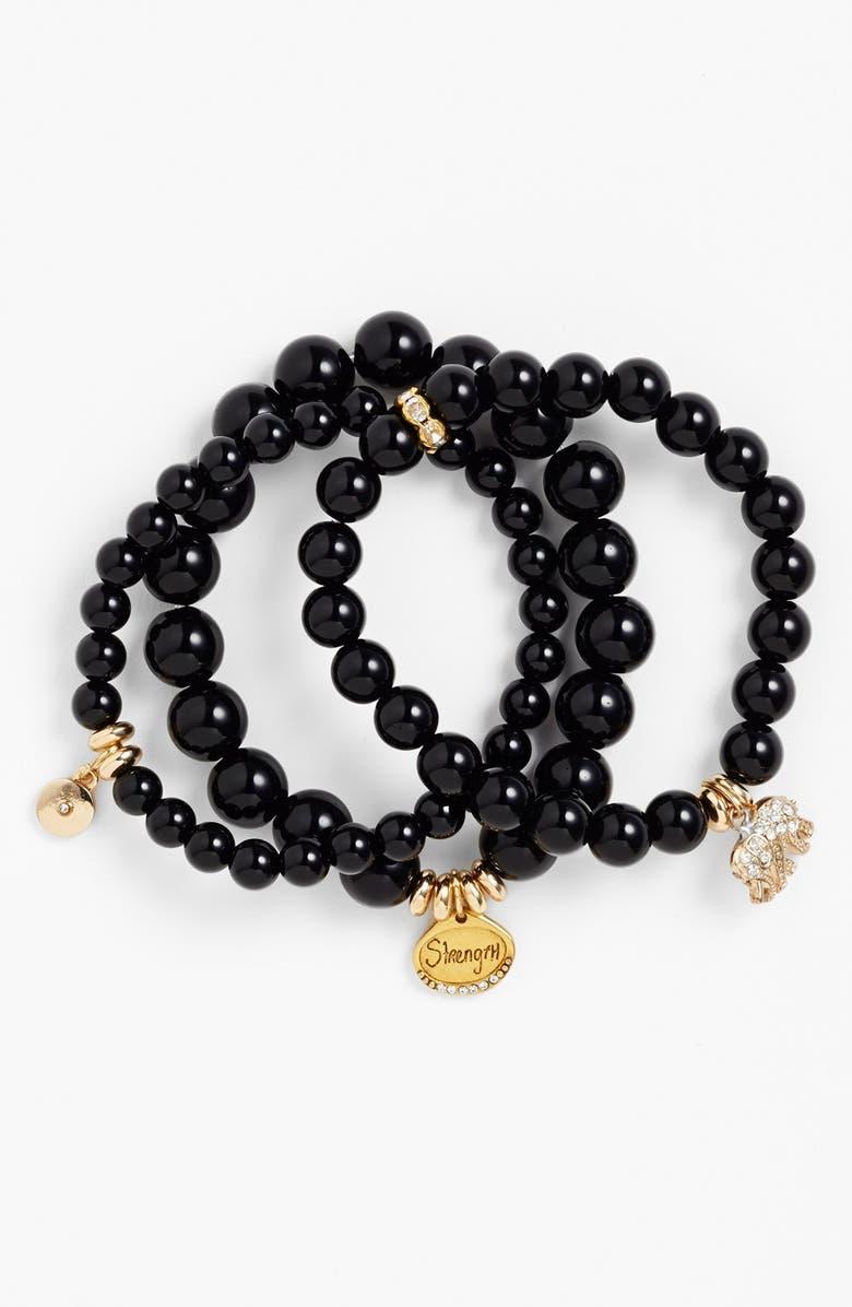 SEQUIN Beaded Stretch Bracelets, Main, color, 001