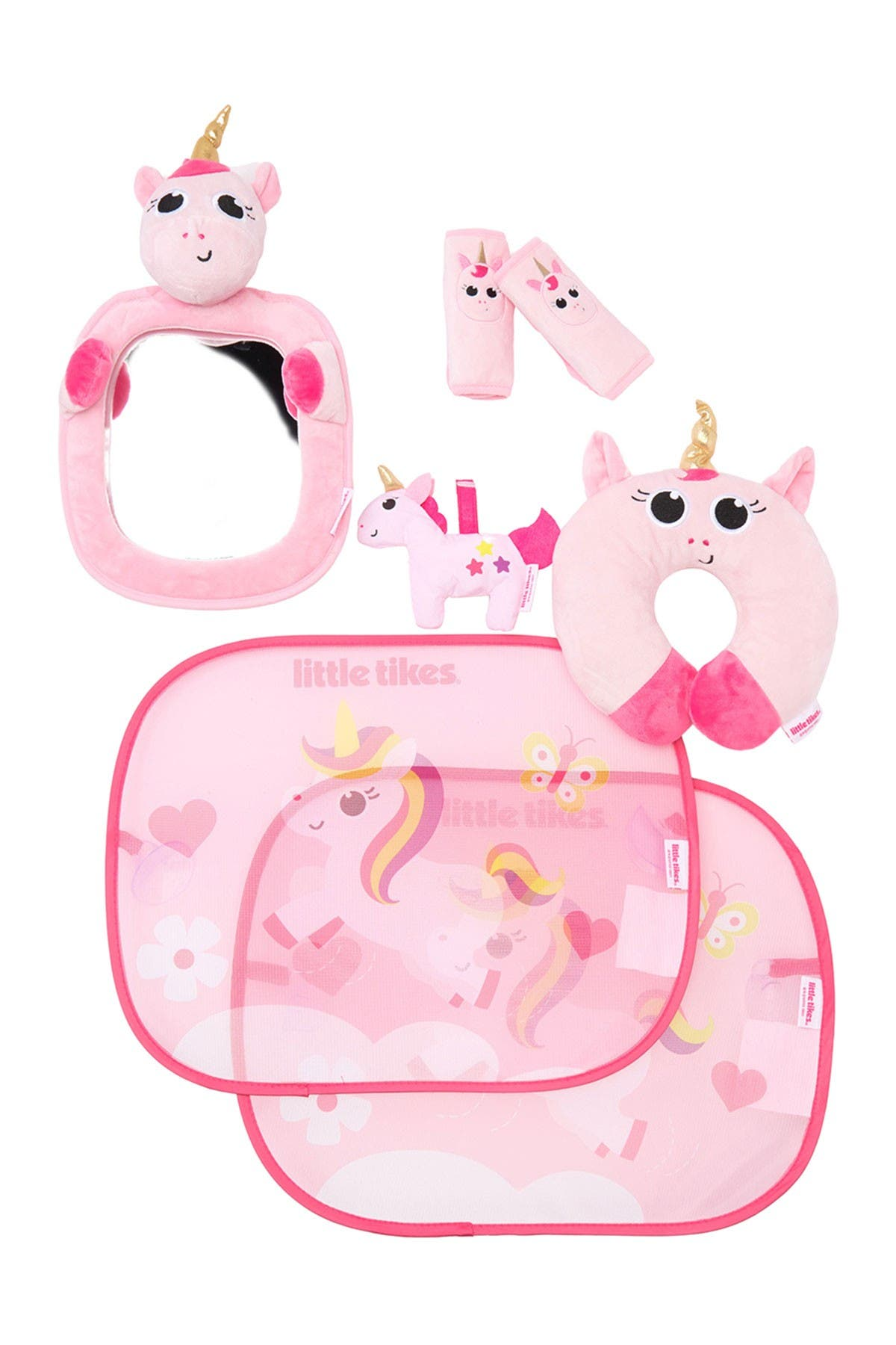 Image of Little Tikes Car Accessory 7-Piece Baby Gift Set - Pink