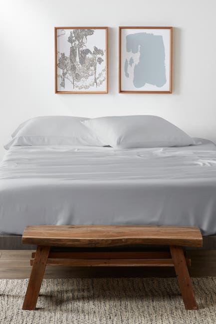 Image of IENJOY HOME Home Spun Premium 4-Piece Luxury Bed Light Gray Sheet Set - King
