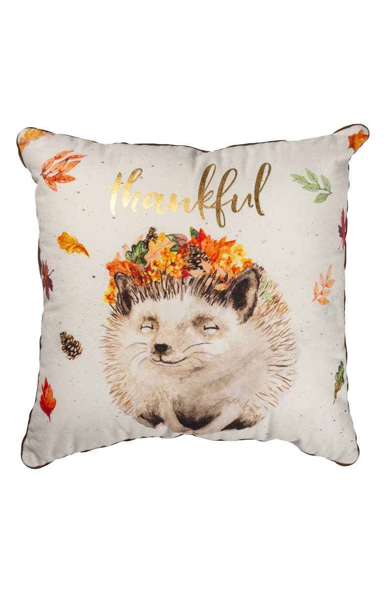 PRIMITIVES BY KATHY Thankful Accent Pillow, Main, color, IVORY