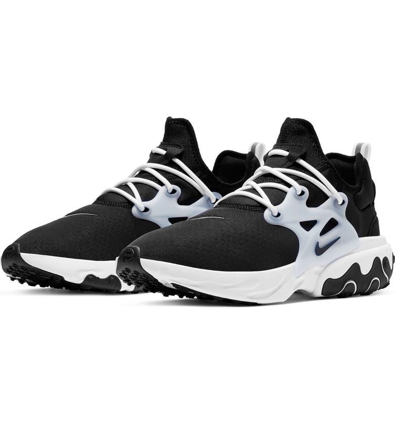 NIKE Presto React Sneaker, Main, color, BLACK/ BLACK/ WHITE