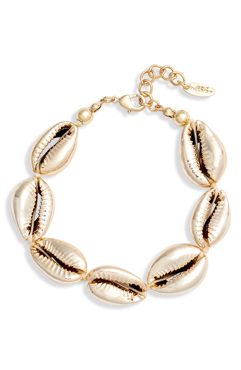 ETTIKA Shell Bracelet, Main, color, GOLD