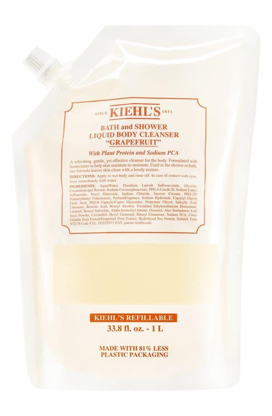 Kiehl's Since 1851 1851 Grapefruit Bath & Shower Liquid Body Cleanser, 33.8 oz In Refill