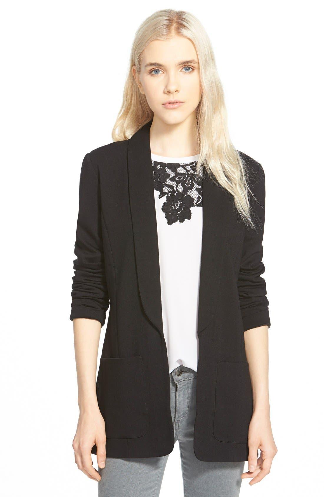 Open Shawl Collar Jacket, Main, color, 001